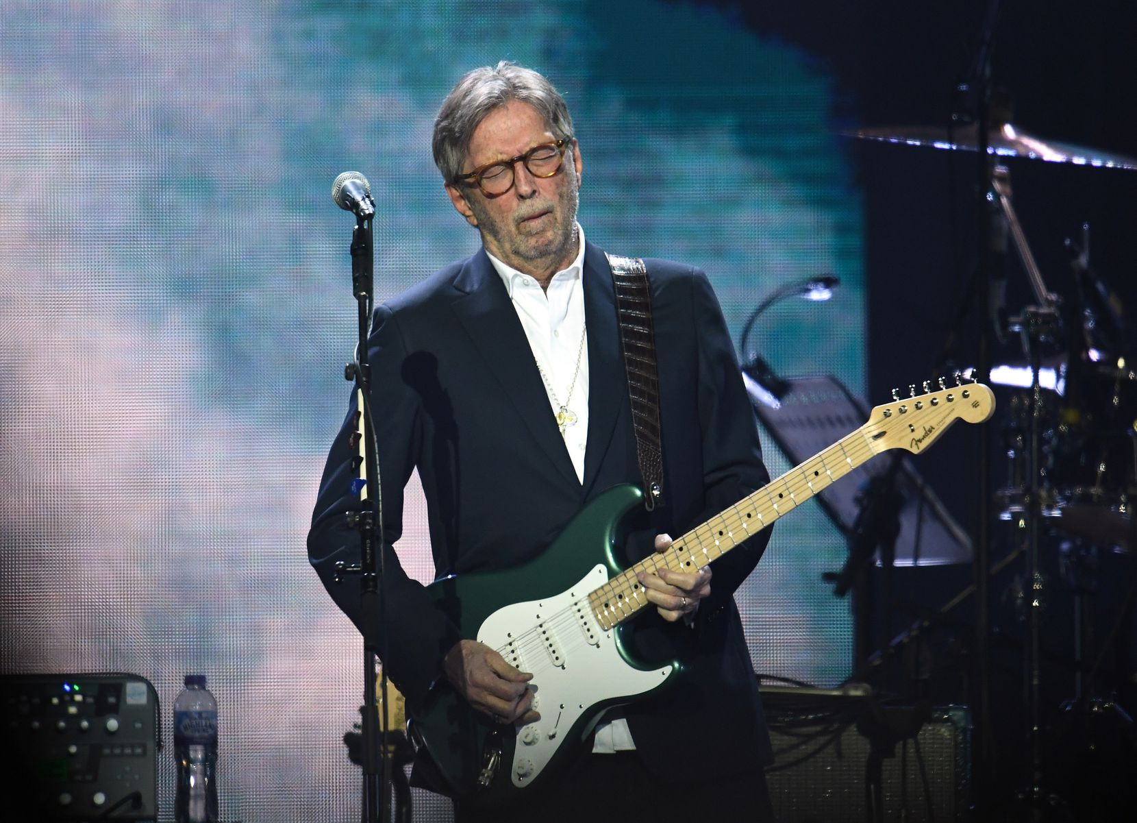 Eric Clapton performed at the O2 Arena in London, England on March 3, 2020.