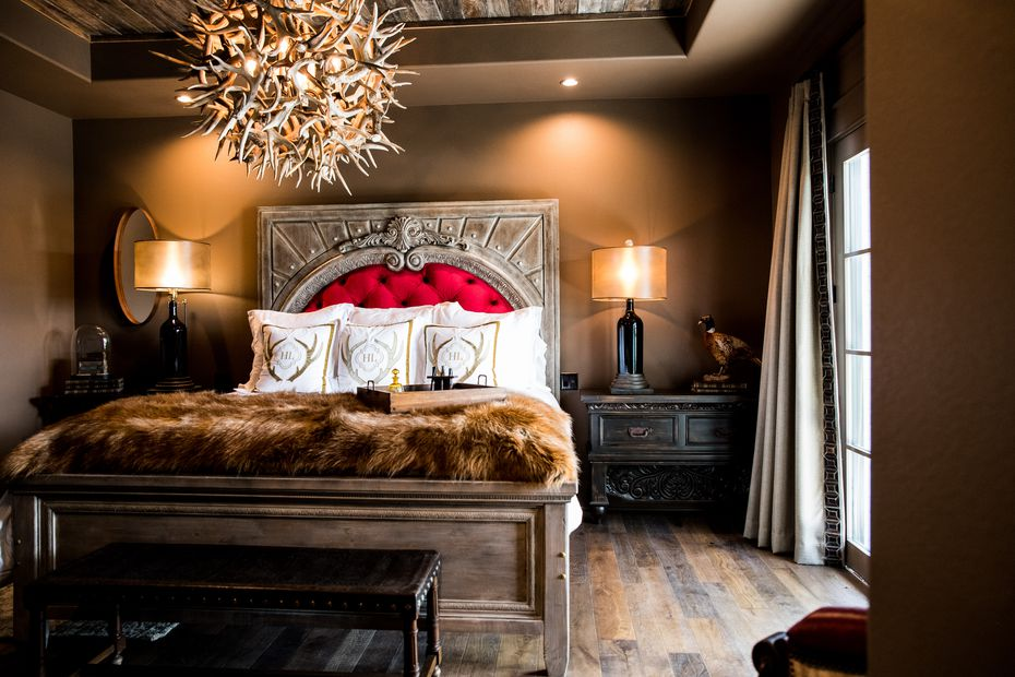 Hotel Lucy's Belvedere room offers a cozy escape in Granbury, about an hour and 15 minutes southwest of Dallas.