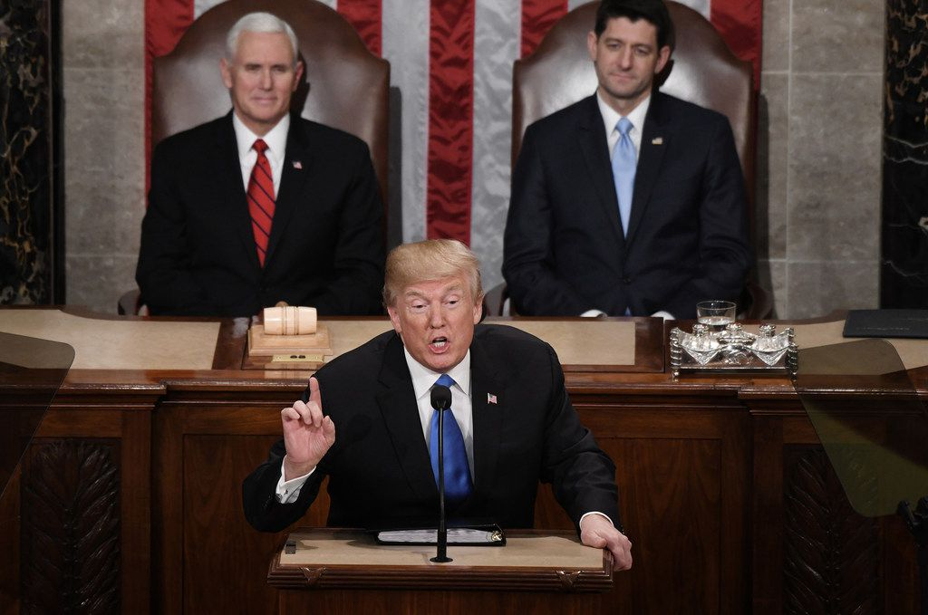 President Donald Trump delivered his first State of the Union address on Jan. 30, 2018.