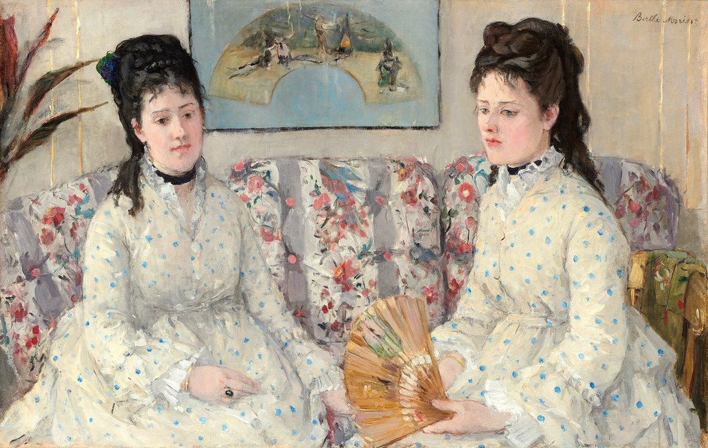 Berthe Morisot's The Sisters, (Two Sisters on a Sofa), now on view in a traveling retrospective of her work.