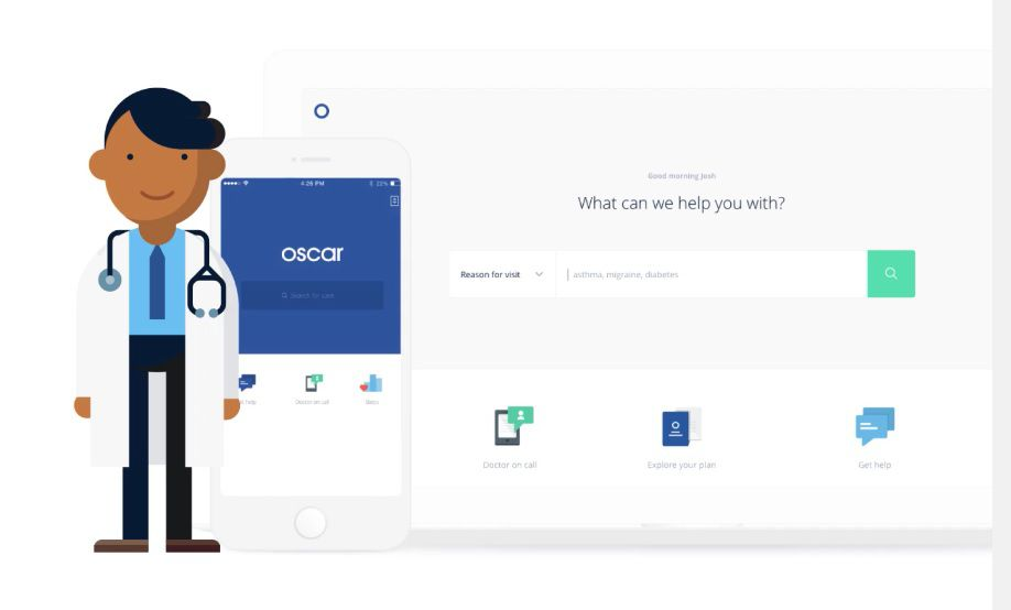 Screen grab of hioscar.com, website run by Oscar, a new health insurance model that expanded to Texas in 2016.