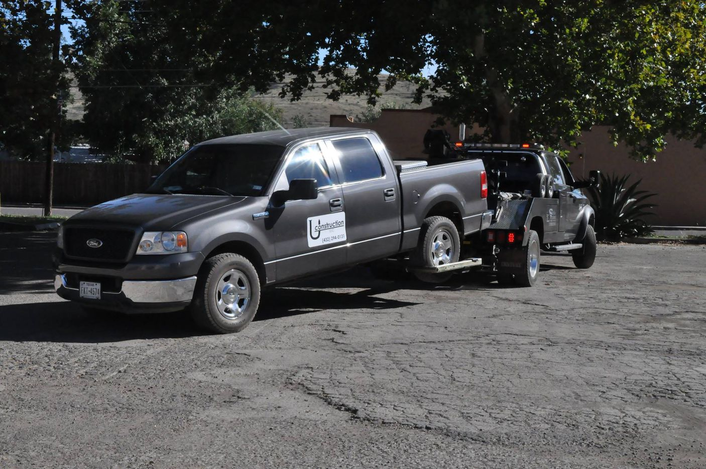 The gray truck police are asking for information about.