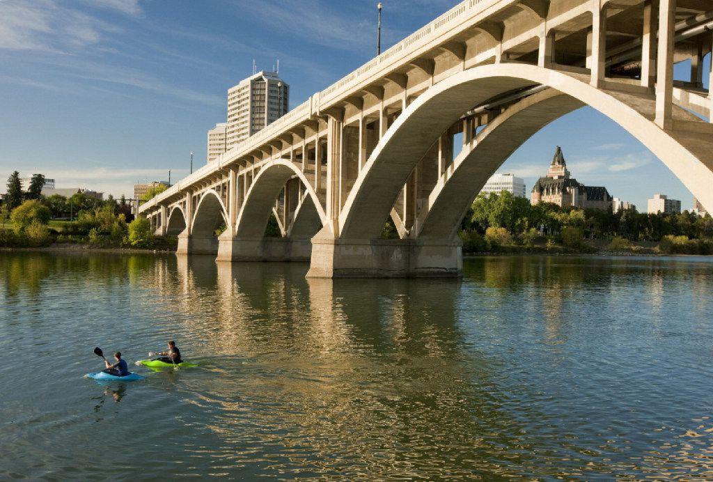 Saskatoon is a handsome city on the shores of the South Saskatchewan River.
