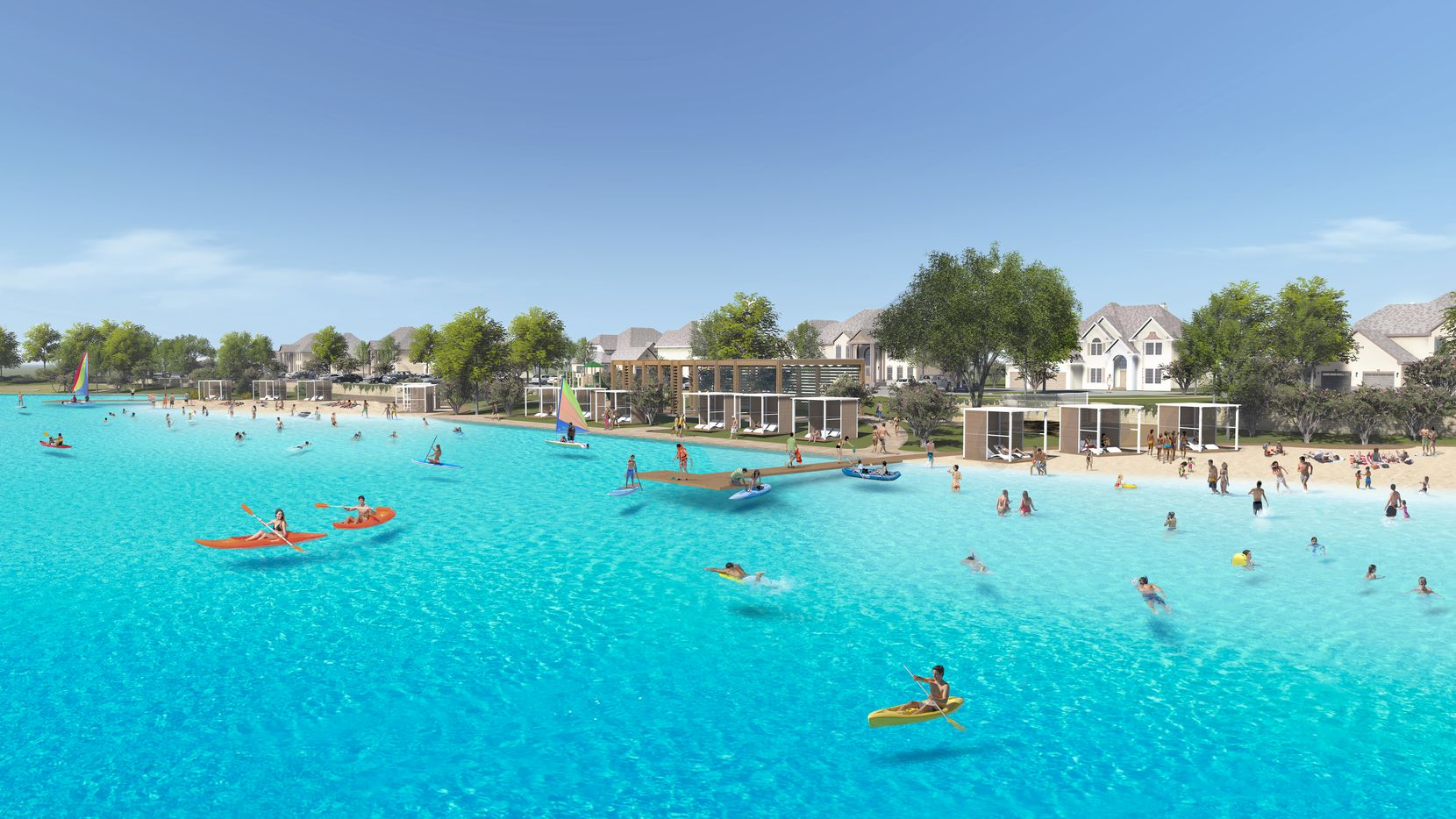 The Crystal Lagoon in Prosper's Windsong Ranch community will open next spring.