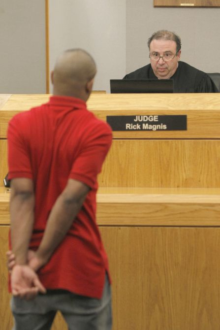 Judge Rick Magnis' high-risk offender program deals exclusively with plea-bargain cases and requires that the perpetrators meet with him each Friday as a condition of their probation. If they don't show up, he immediately issues a warrant for their arrest.
