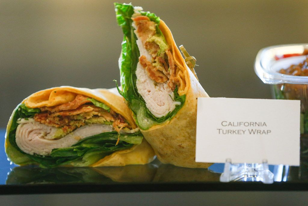 New wraps include a California turkey wrap (pictured here) and a chicken Caesar wrap.