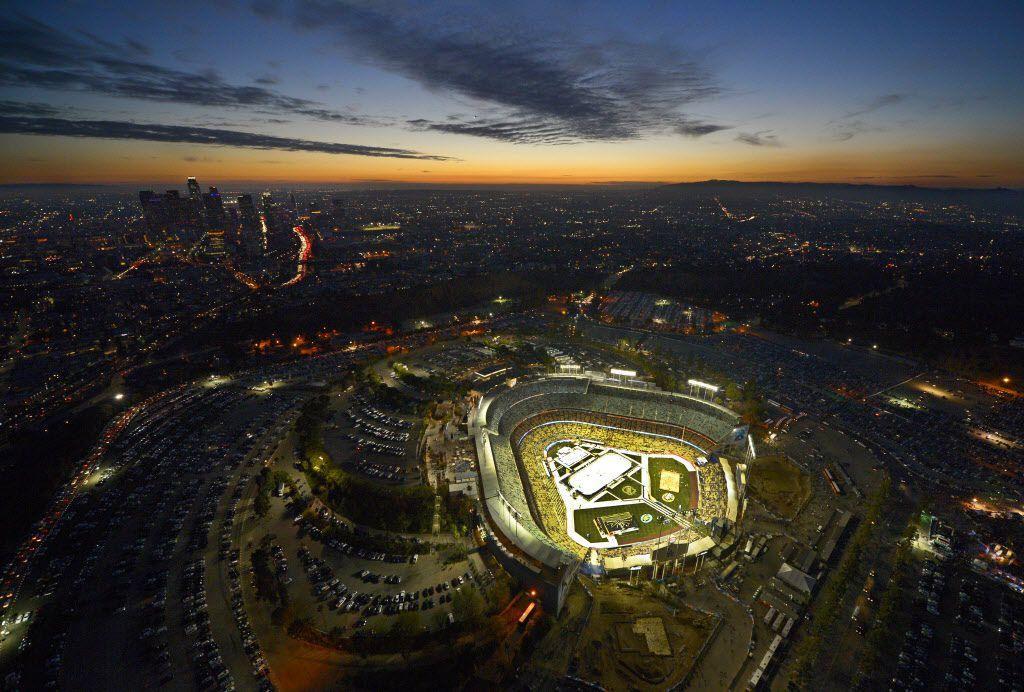 El Dodger Stadium. Foto AP