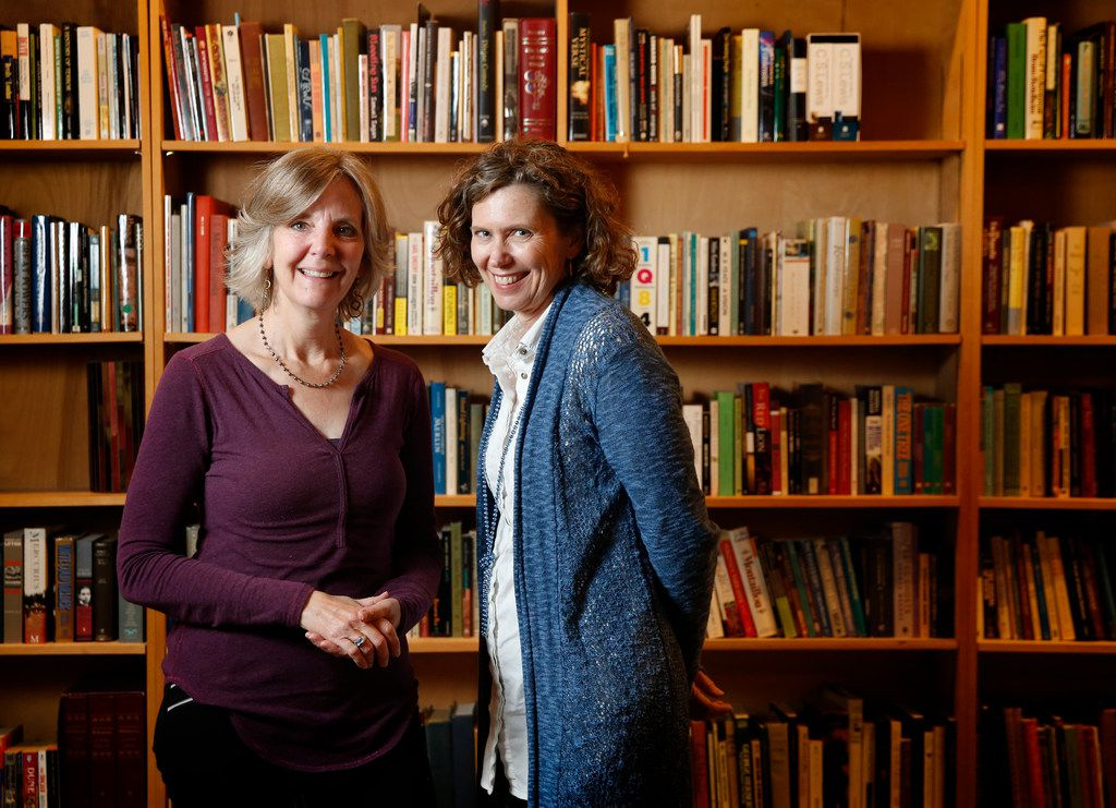 Jean McAulay (left) and Shannon Cerise, founders of the Multicultural Women's Book Club, at the Dallas Institute of Humanities and Culture in Dallas.
