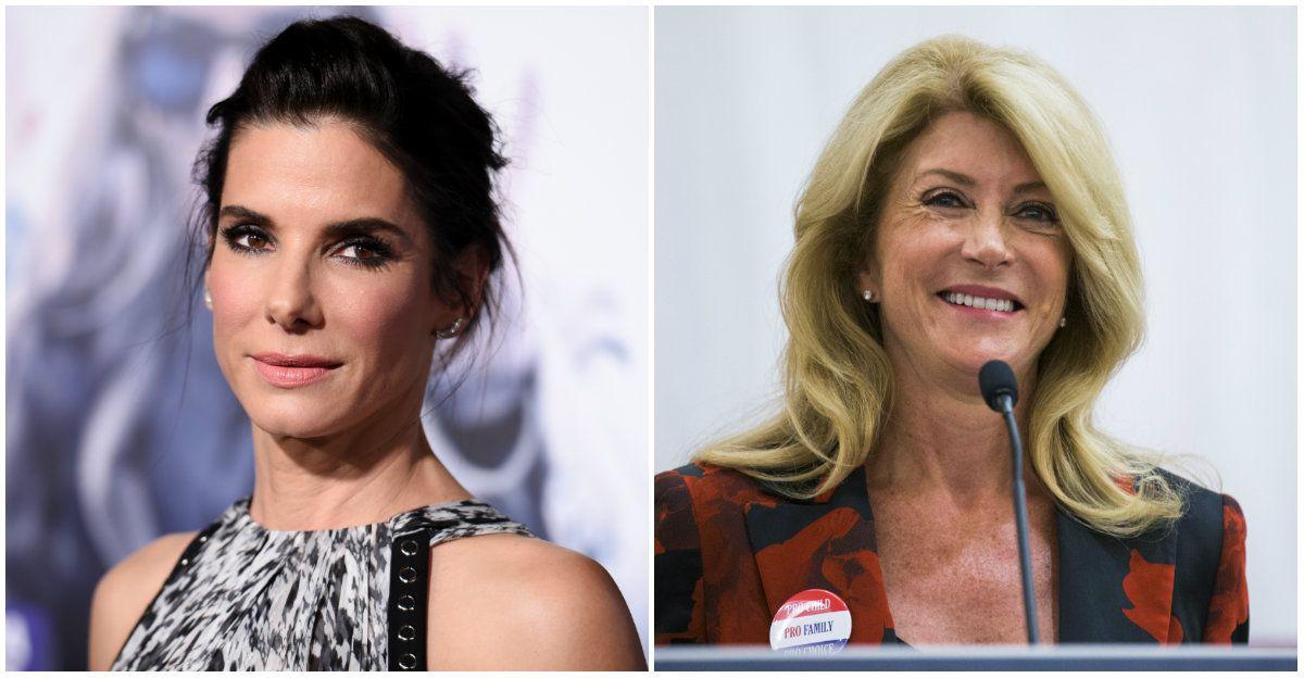 """Sandra Bullock (left) is poised to play former Sen. Wendy Davis in the new movie """"Let Her Speak."""""""