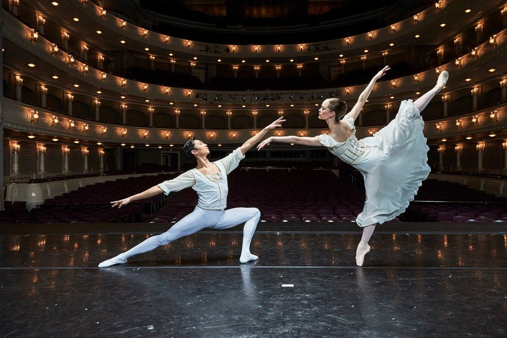 Jiyan Dai and Carolyn Judson in Seven Sonatas, the first work by Russian-born choreographer Alexei Ratmansky to be produced by Texas Ballet Theater.
