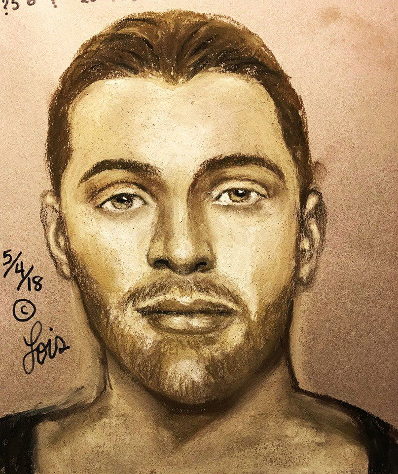 A police sketch led authorities to Randy Baker.