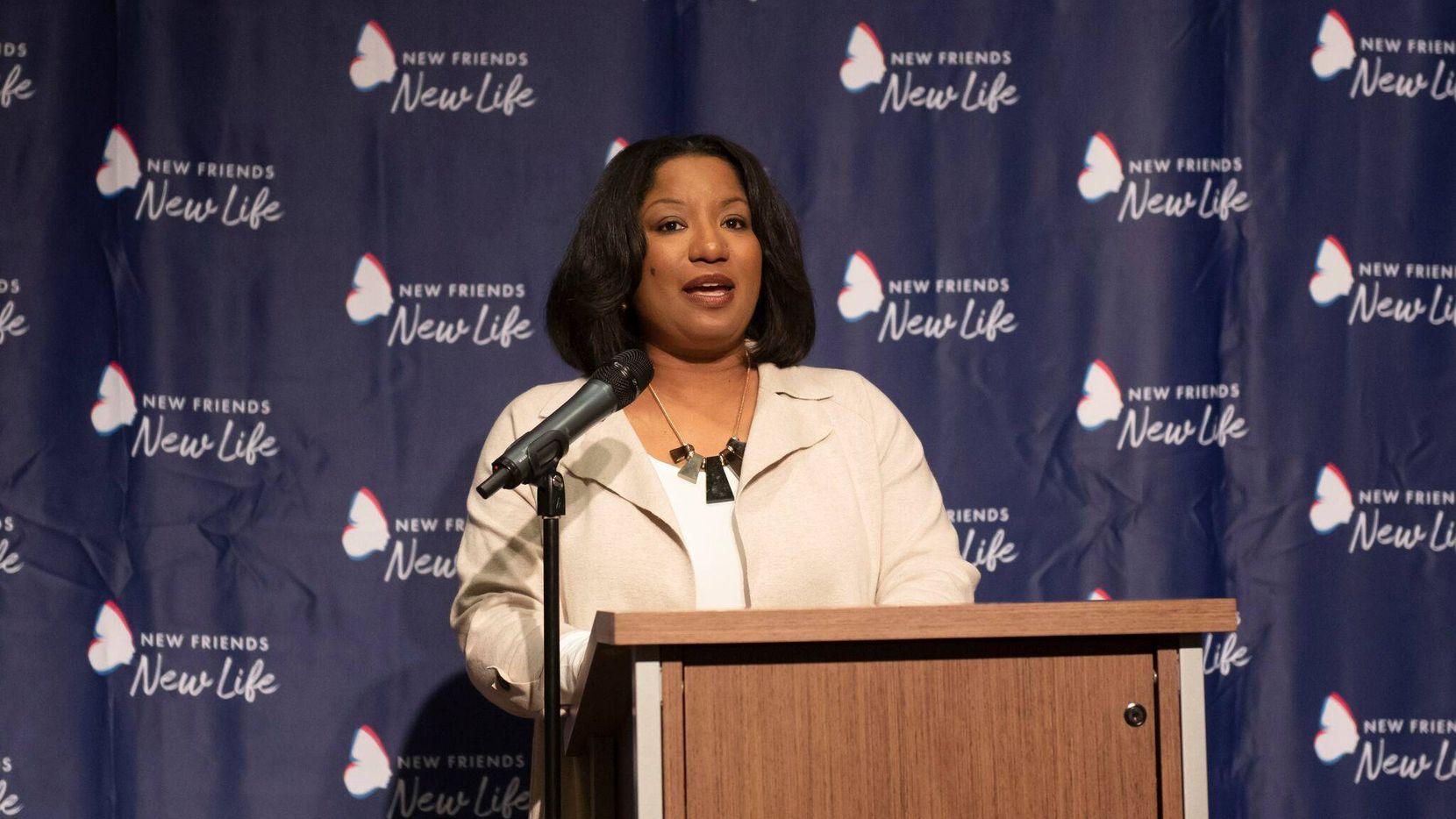 Kim Robinson, CEO of Dallas-based nonprofit New Friends New Life.