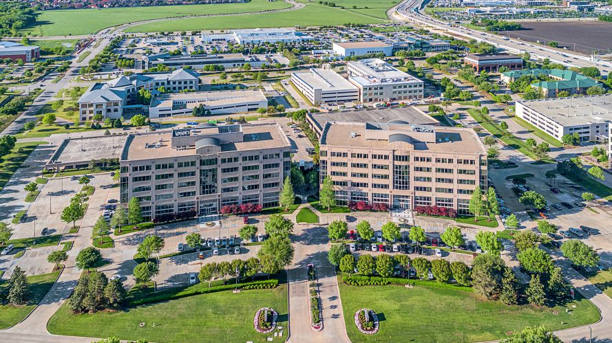 The Legacy Place office buildings on Tennyson Parkway were built in the late 1990s.