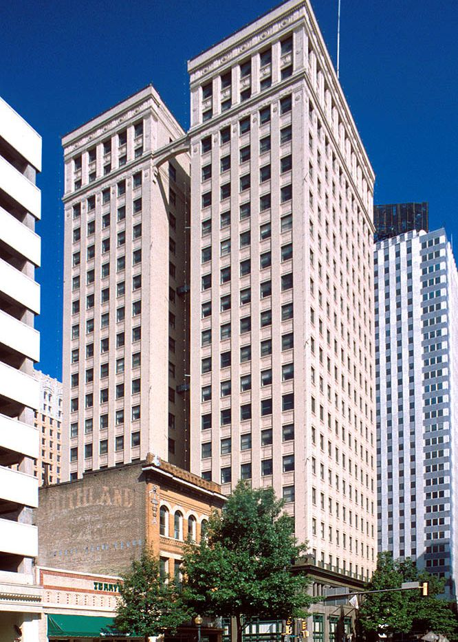 The W.T. Waggoner Building in downtown Fort Worth is almost a century old.
