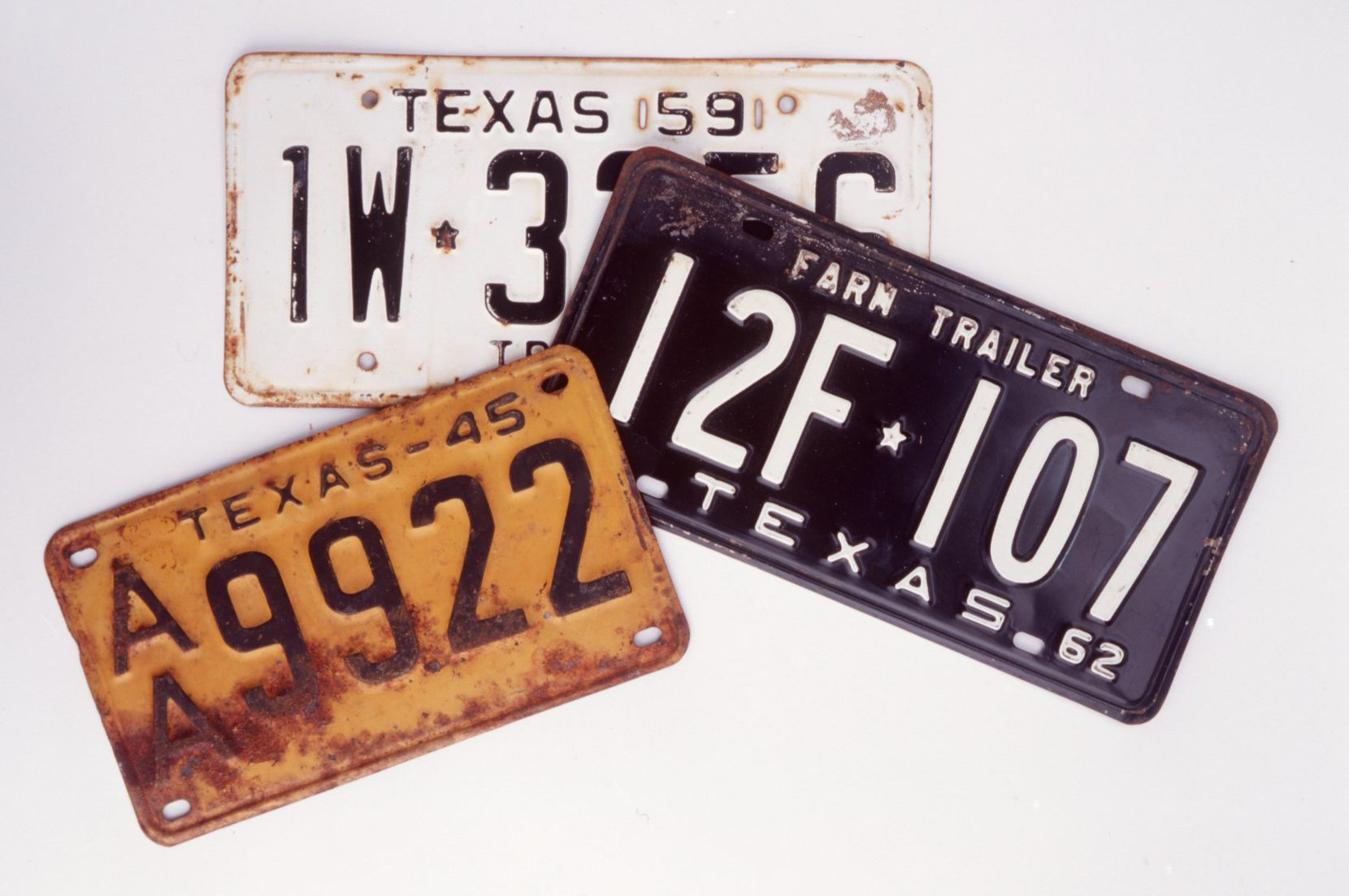 Texas license plates have gone through a long, colorful evolution since first coming into use in 1917.