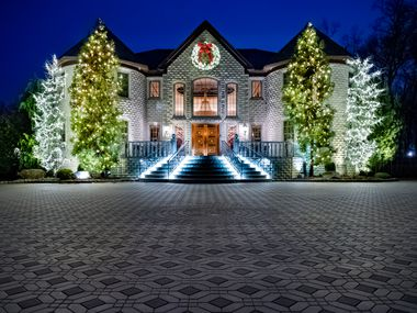 A home decorated by Christmas Decor. The Irving-based holiday lighting company is seeing a spike in business this year, mostly from residential customers and cities.