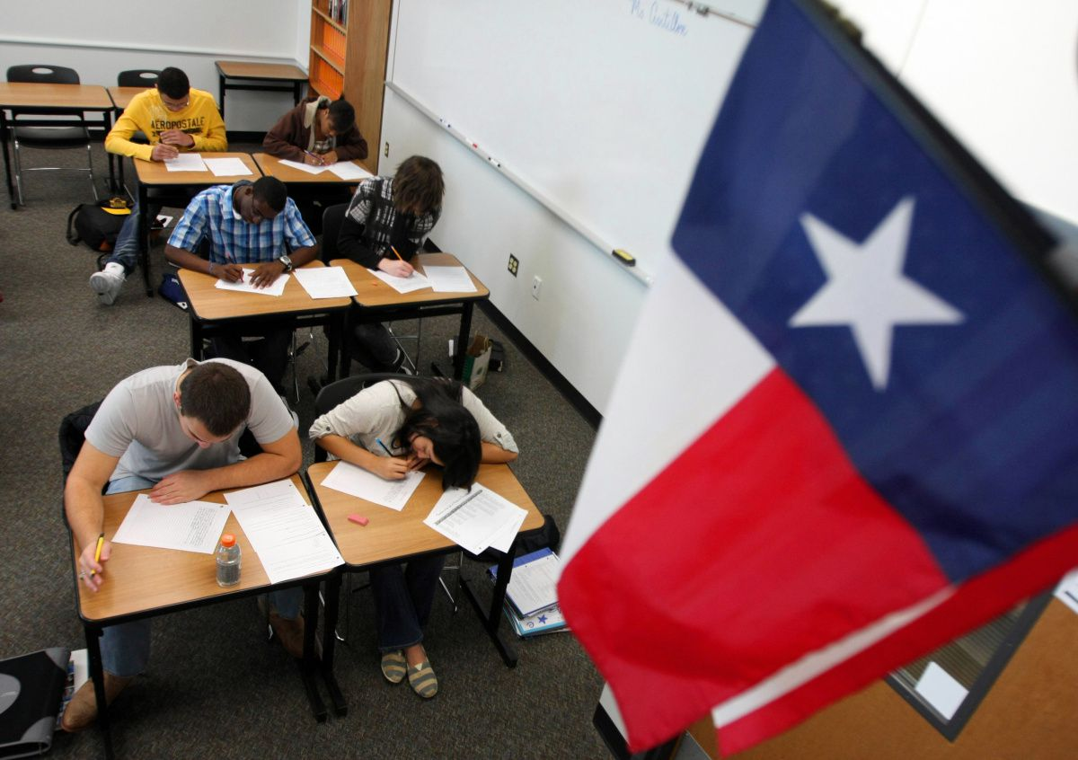 Students at Lone Star High School in Frisco wrote English essays during a practice test in February 2011. Frisco ISD gave most of its STAAR tests online, but a tech glitch bogged down the system and even deleted some students' answers.