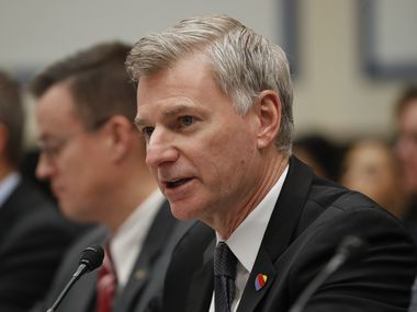 Southwest Airlines' incoming CEO Bob Jordan during Capitol Hill testimony in 2017.