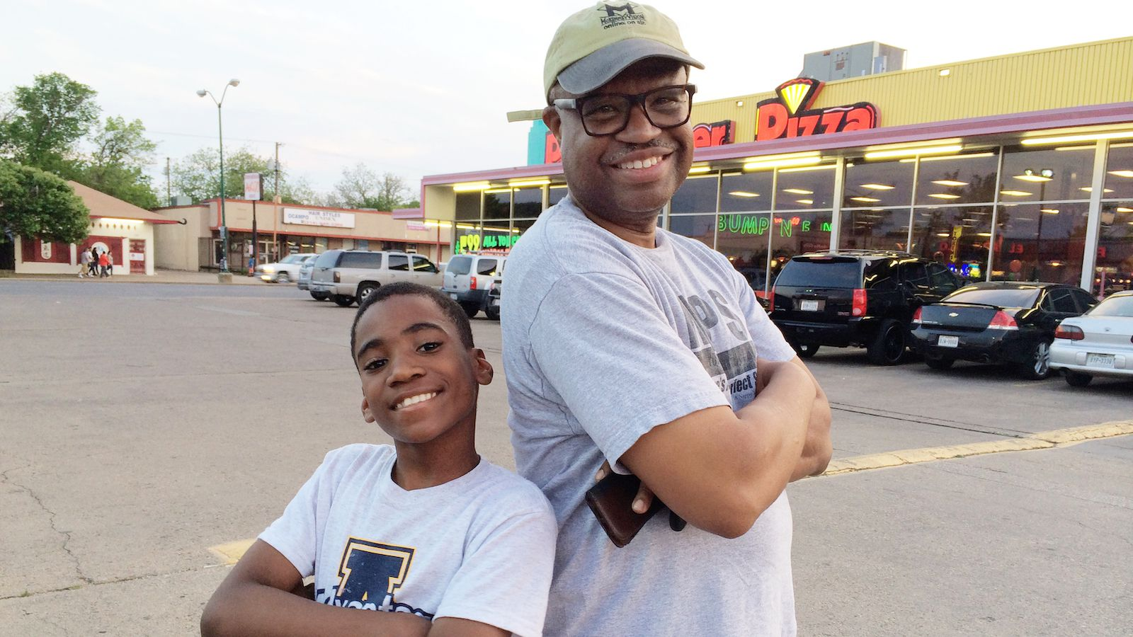 """""""It's a lot of eating. Boys love to eat!"""" says Jesse Hornbuckle (right) about being a mentor through Big Brothers Big Sisters. His first little, Dennis, was 11 years old when they were matched."""