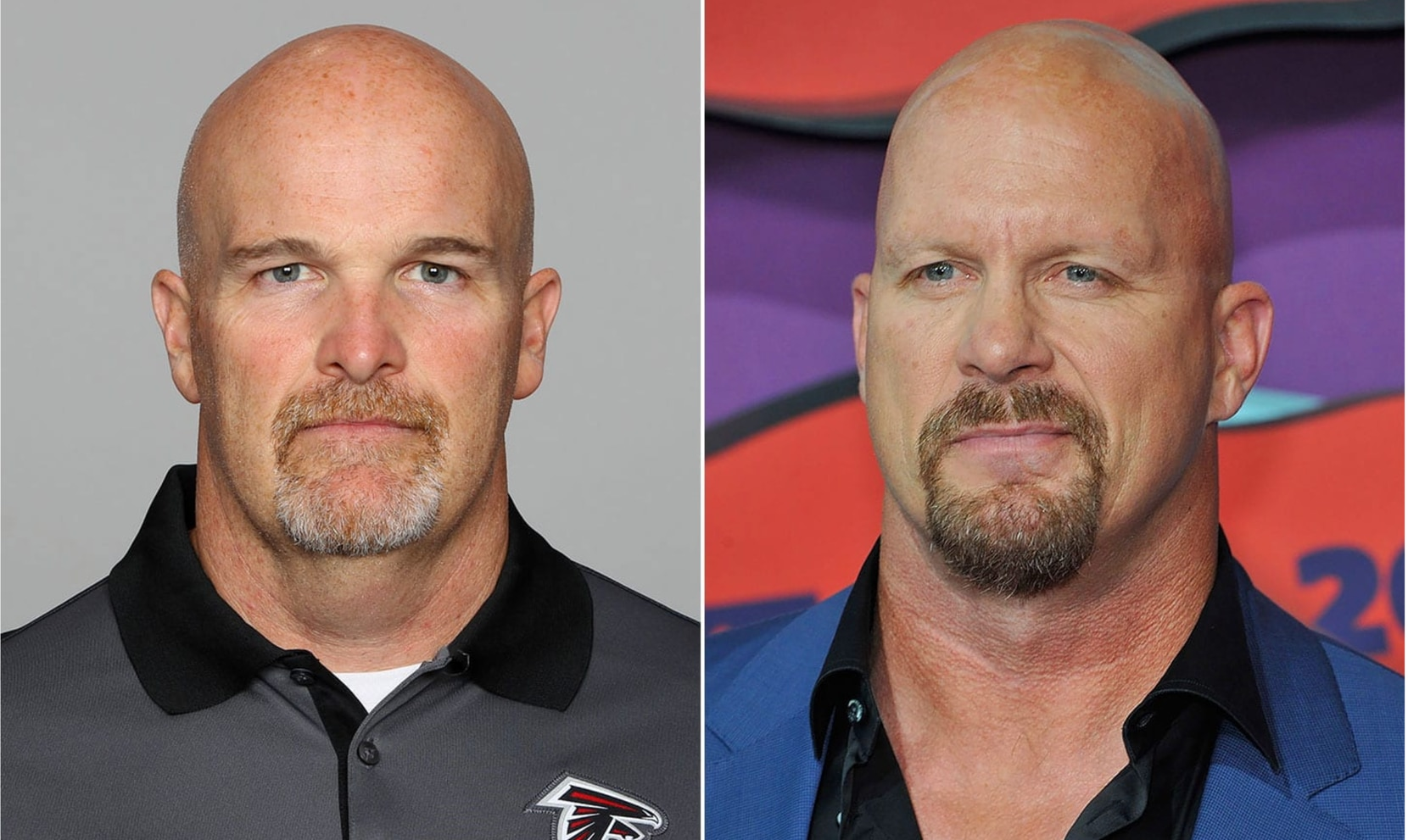 "Left: Dan Quinn; Right: ""Stone Cold"" Steve Austin"
