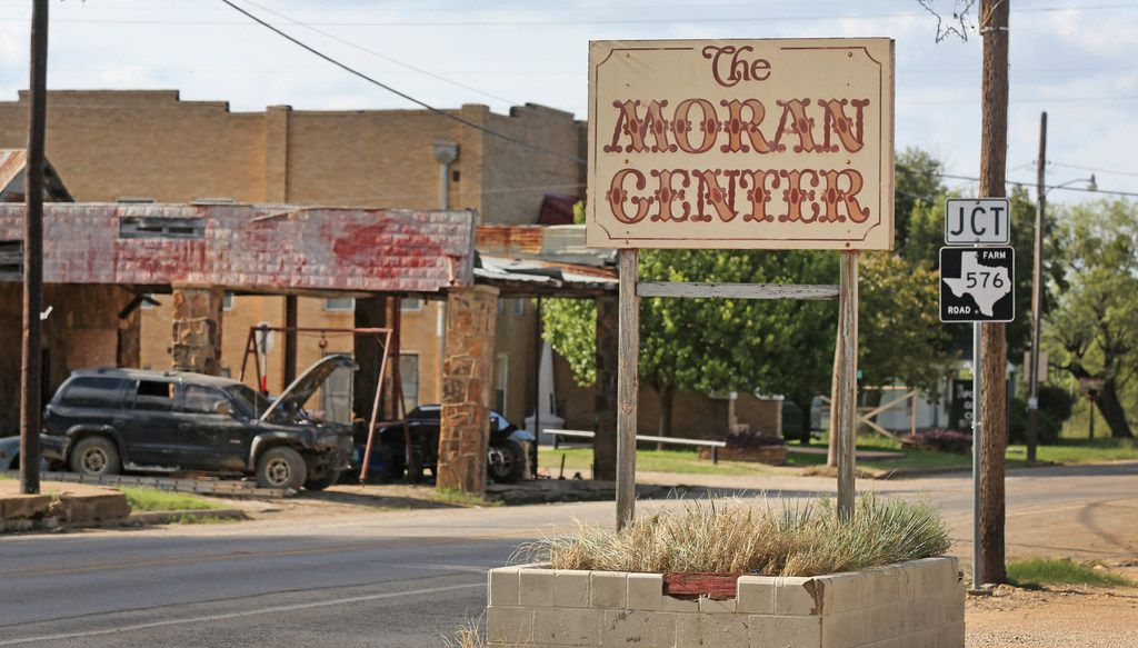 A look at a virtually deserted downtown Moran, Texas, photographed on Thursday, October 5, 2017. (Louis DeLuca/The Dallas Morning News)