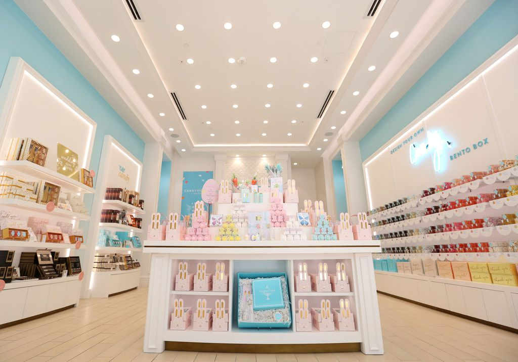 Interior of Sugarfina at Legacy West in Plano has closed as part of a bankruptcy filing.