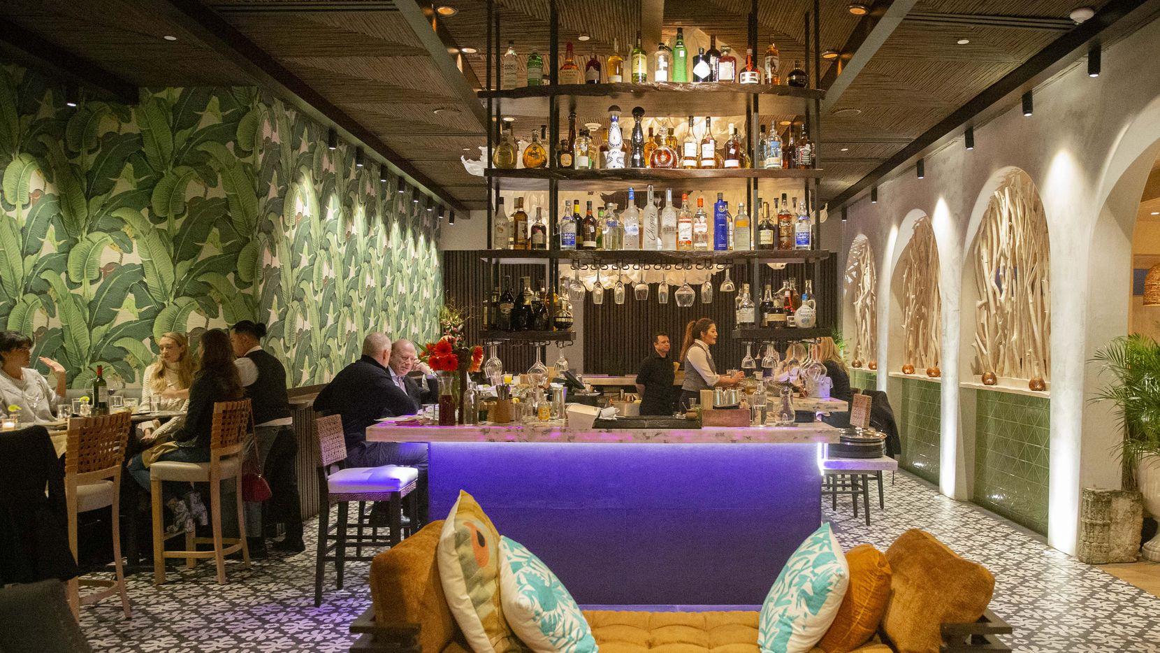 The bar at Tulum