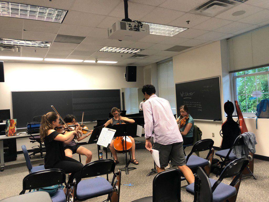 Solana Quartet works with cellist Raman Ramakrishnan at the Mimir Chamber Music Festival.