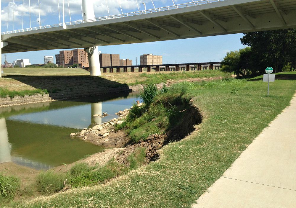 The space between the Trinity River and Trinity Skyline Trail is getting dangerously small.
