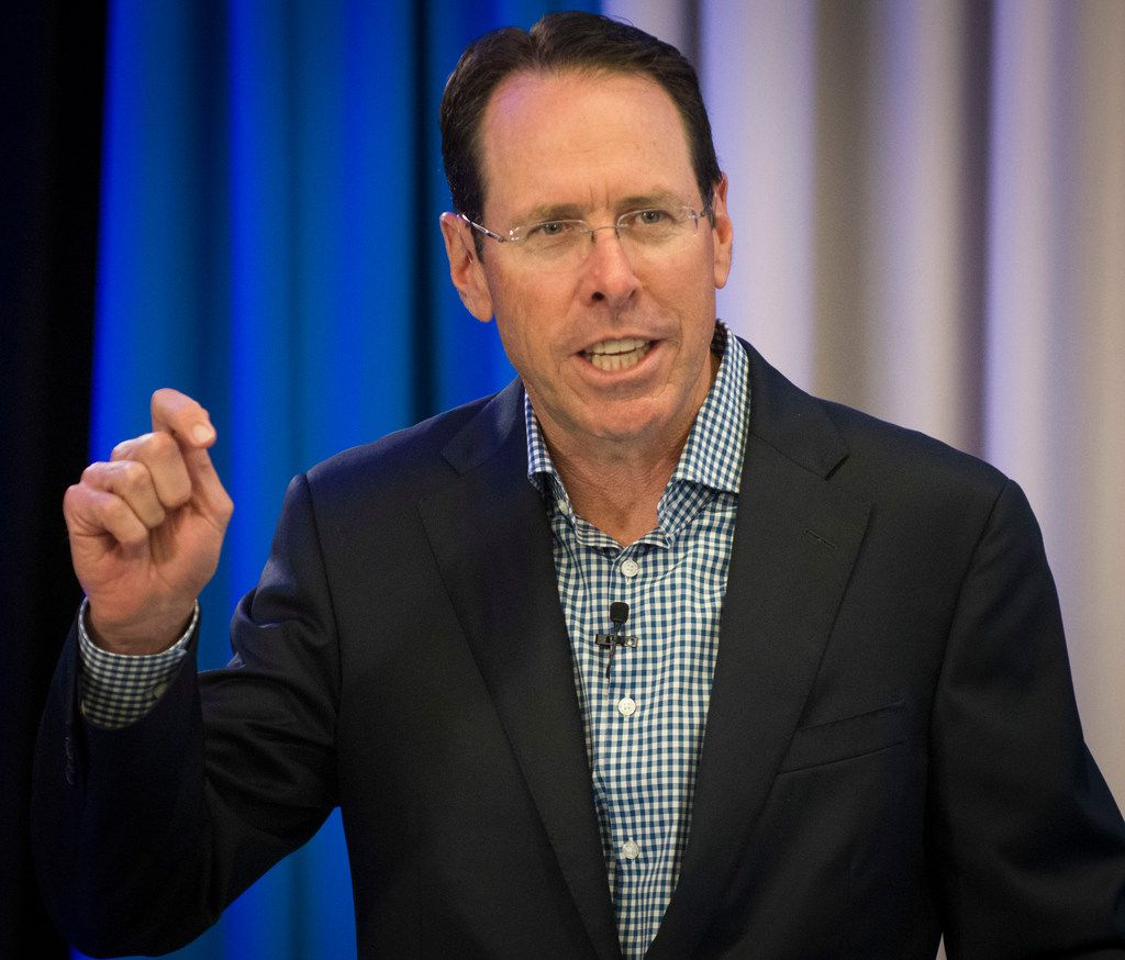 AT&T CEO Randall Stephenson at a 2018 event at the company's headquarters in Dallas.