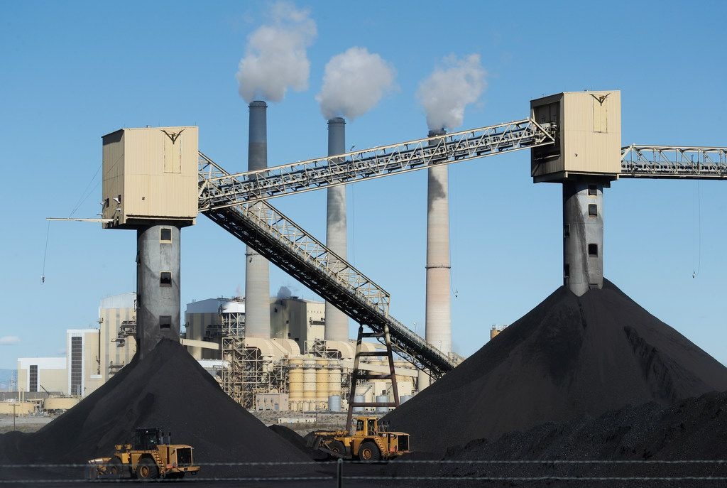CASTLE DALE, UT - OCTOBER  9: Piles of coal sit in front of Pacificorp's 1440 megawatt coal fired power plant on October 9, 2017 in Castle Dale, Utah.  It was announced today that the Trump administration's EPA will repeal then Clean Power Plan,that was put in place by the Obama administration.  (Photo by George Frey/Getty Images) ***BESTPIX***