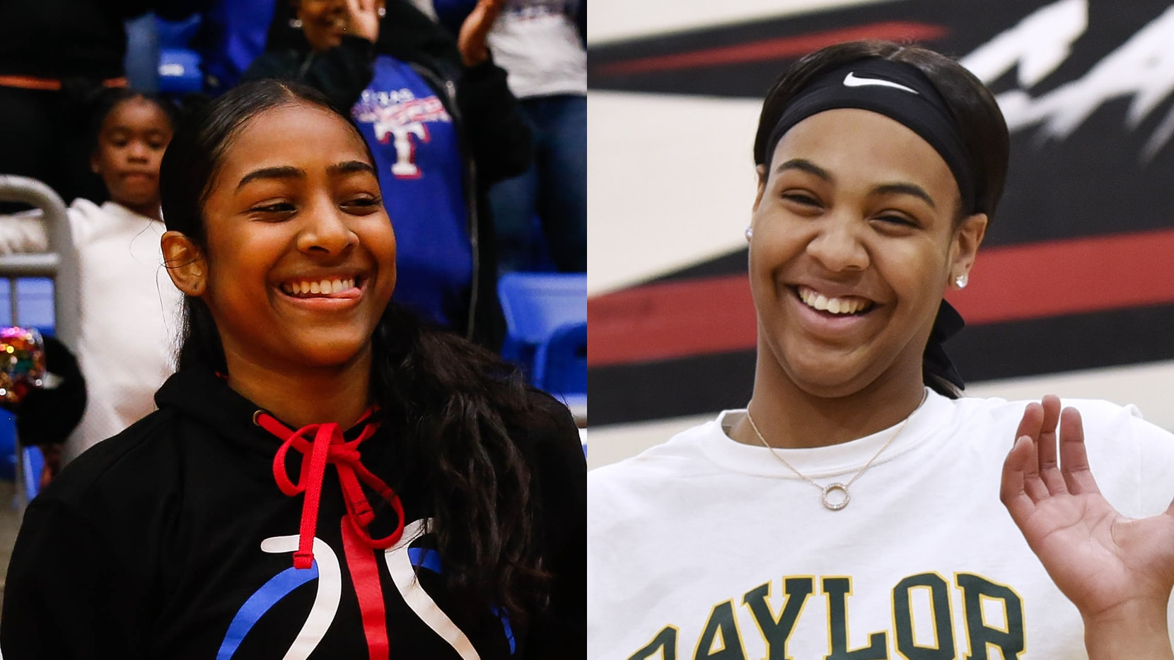 Duncanville's Deja Kelly (left) and Irving MacArthur's Hannah Gusters.