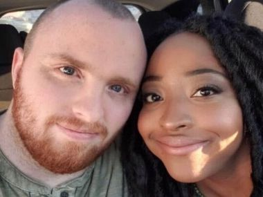Garrett Foster and Whitney Mitchell in an undated family photo. Garrett was shot dead by a motorist at a Black Lives Matter protest in Austin Saturday, July 25, 2020. Photo courtesy of Sheila Foster.