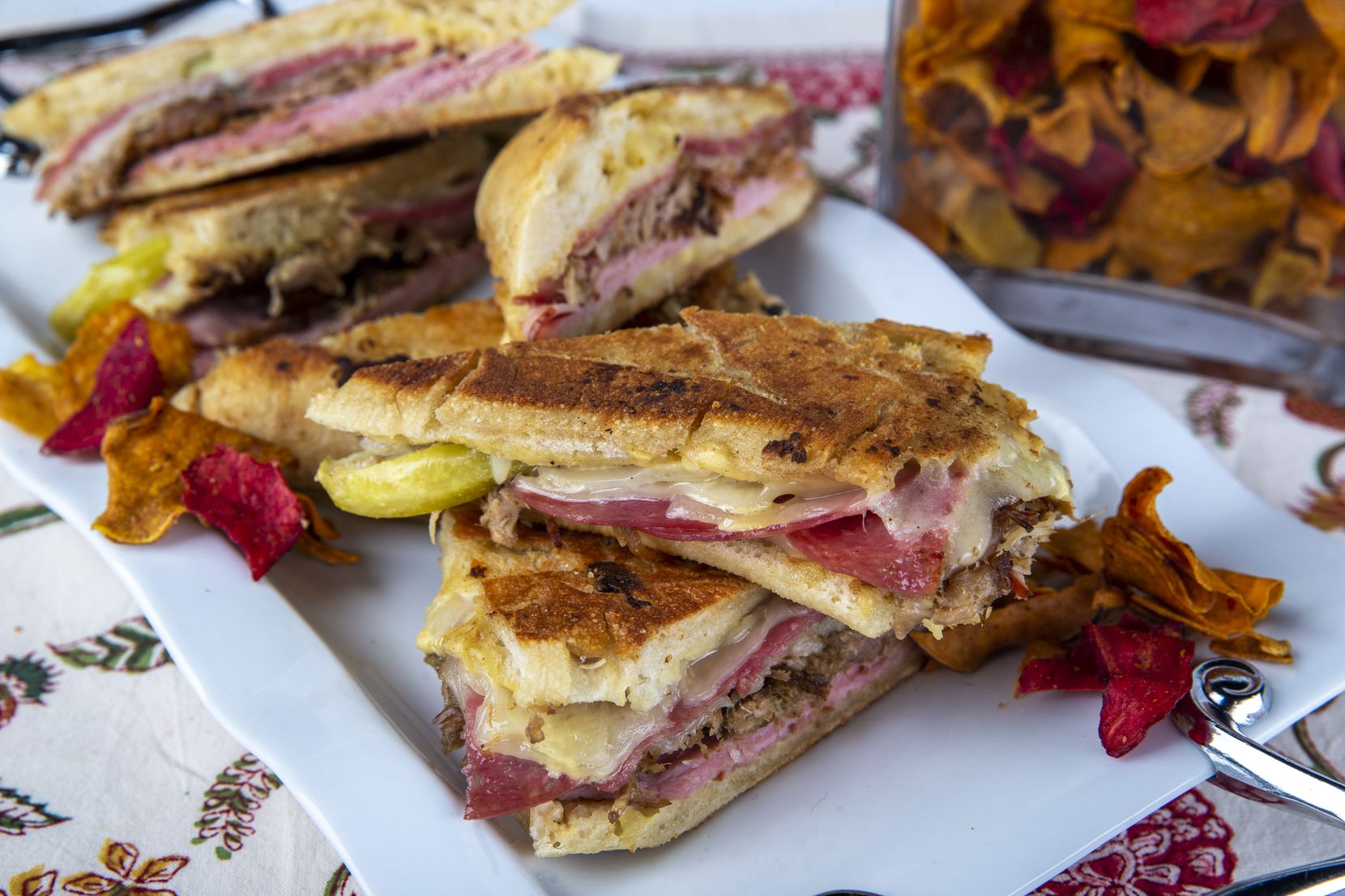 Cuban Sandwiches are made from Pineapple Pork from the Instant Pot.