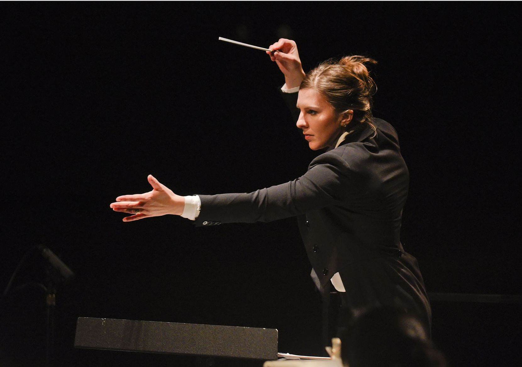 Lidiya Yankovskaya directs as part of the Dallas Opera's Linda and Mitch Hart Institute for Women Conductors, in 2015.