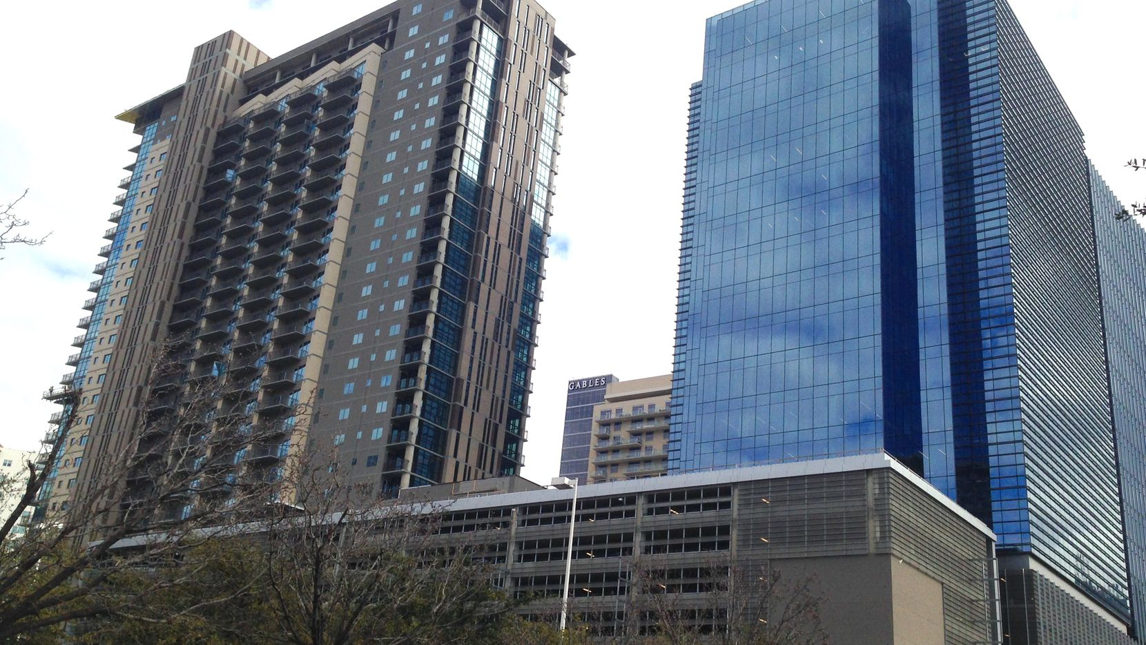 The Christopher tower (on the left) iis part of the Union development north of downtown.