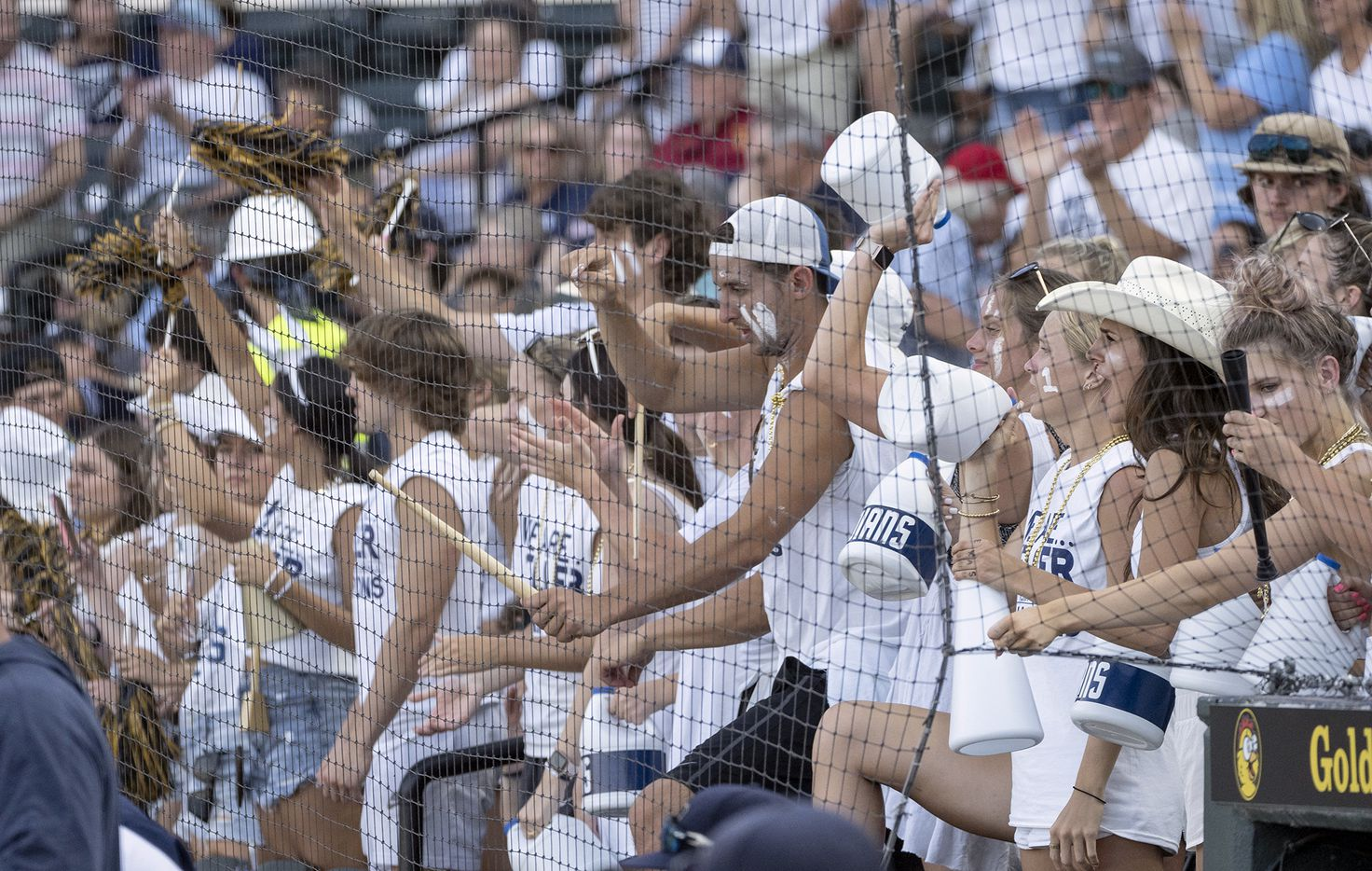 Keller fans cheer on the Indians after defeating Houston Strake Jesuit during the 2021 UIL 6A state baseball semifinals held, Friday, June 11, 2021, in Round Rock, Texas.     Keller defeated Strake Jesuit 7-1. (Rodolfo Gonzalez/Special Contributor)
