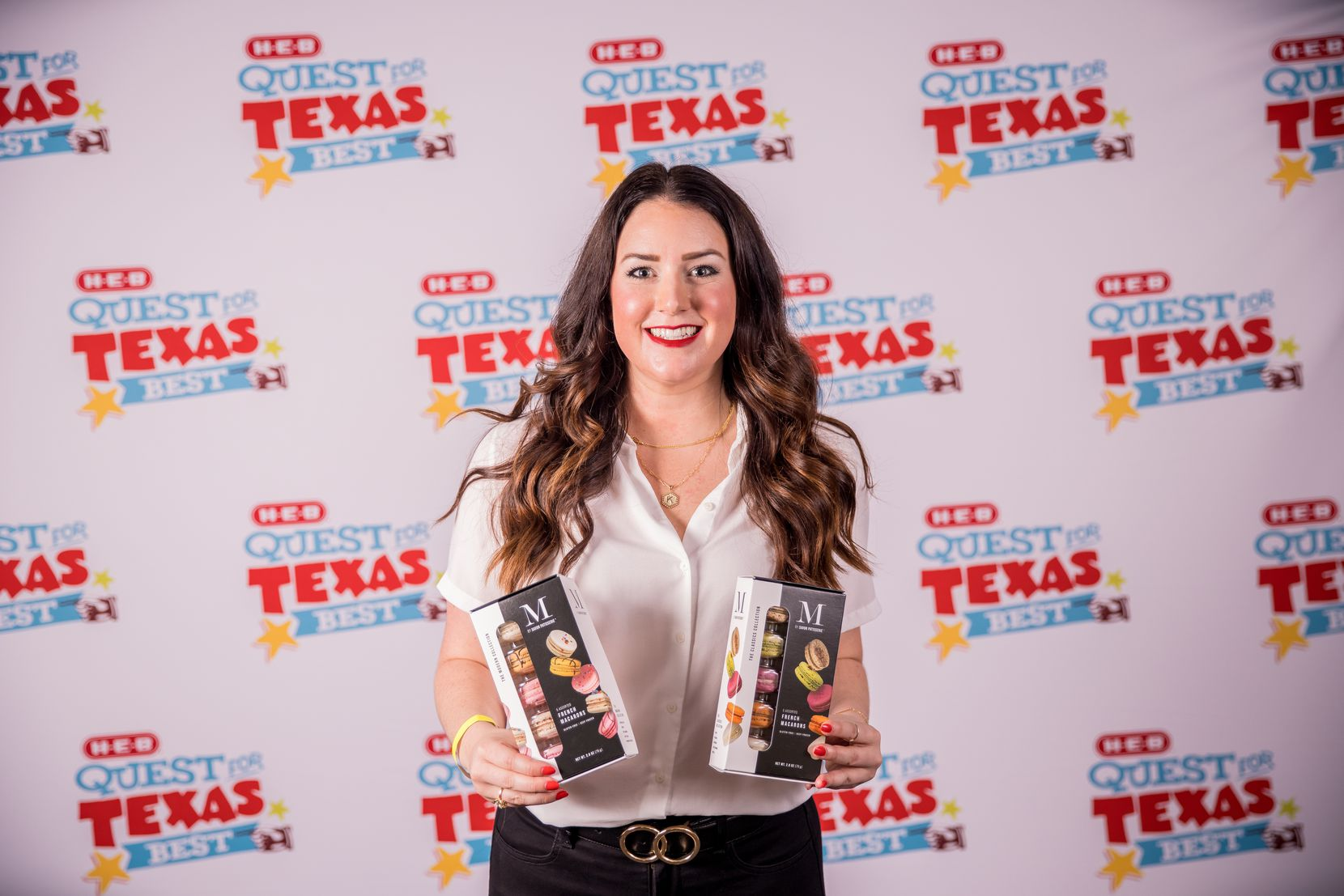 Kelli Watts of Dallas is the grand prize winner in the 2021 H-E-B Quest for Texas Best competition for her Savor Patisserie French macarons. Watts receives $25,000 and shelf space in H-E-B supermarkets.