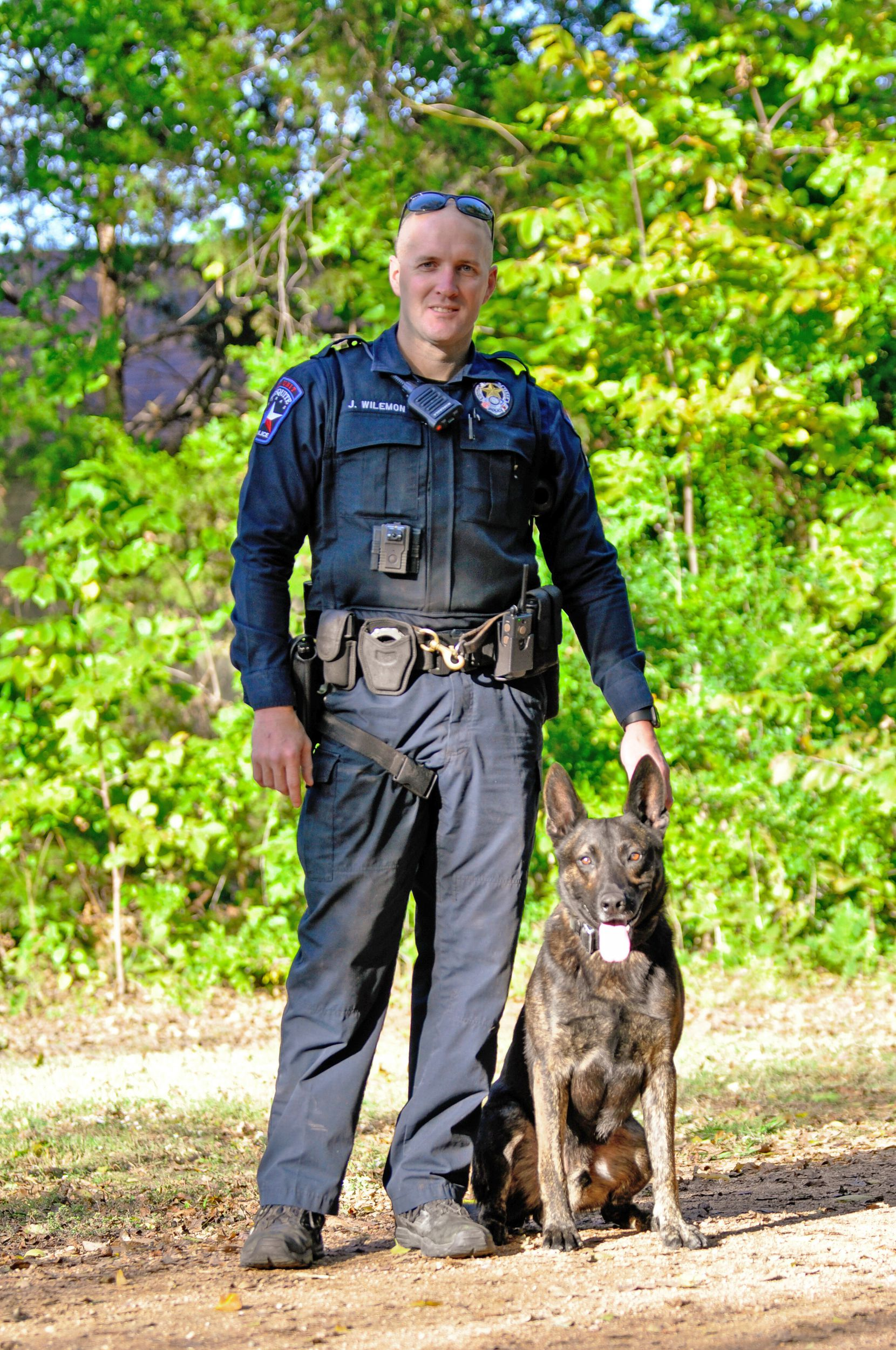 The Mesquite Police Department recognized Officer Jeremy Wilemon and K9 Axel in November 2020.