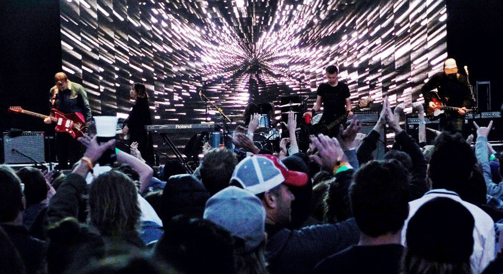 Slowdive performs at the 2019 Fortress Festival in Fort Worth.