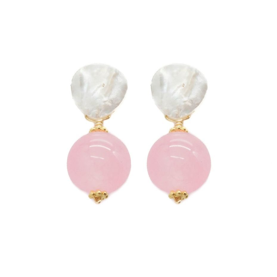 Dallas business Hazen & Co. offers the Claire earring, shown here in bubblegum pink.