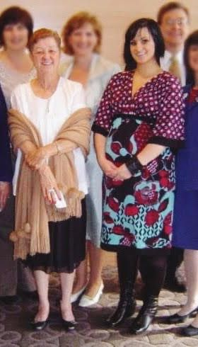The author, Destiny Herndon-De La Rosa, right, poses with Norma McCorvey at a fundraising event in 2008.
