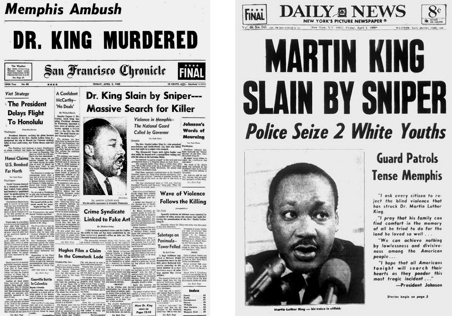 The San Francisco Chronicle and New York Daily News