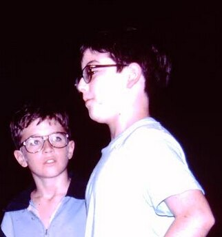 Matt Zoller Seitz, right, directing his play  The Creature Syndrome  in fifth grade.