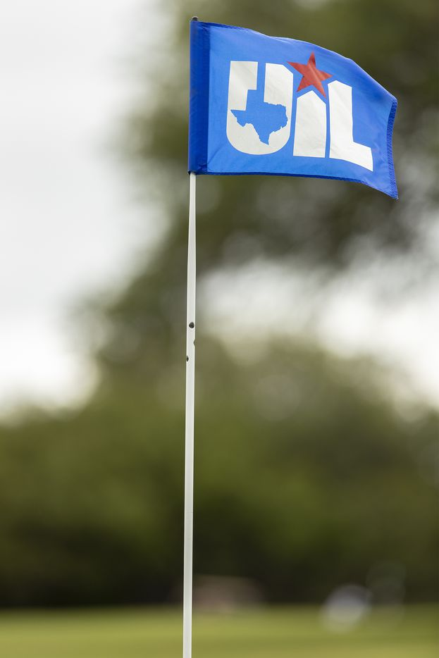 The pin of the 12th hole during round 1 of the UIL Class 5A boys golf tournament in Georgetown, Monday, May 17, 2021. (Stephen Spillman/Special Contributor)