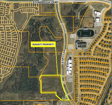 This map shows the proposed location for the substation across the road from Allen Elementary.