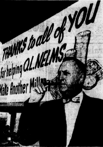Nelms with one of his billboards in a 1972 issue of The Dallas Morning News.