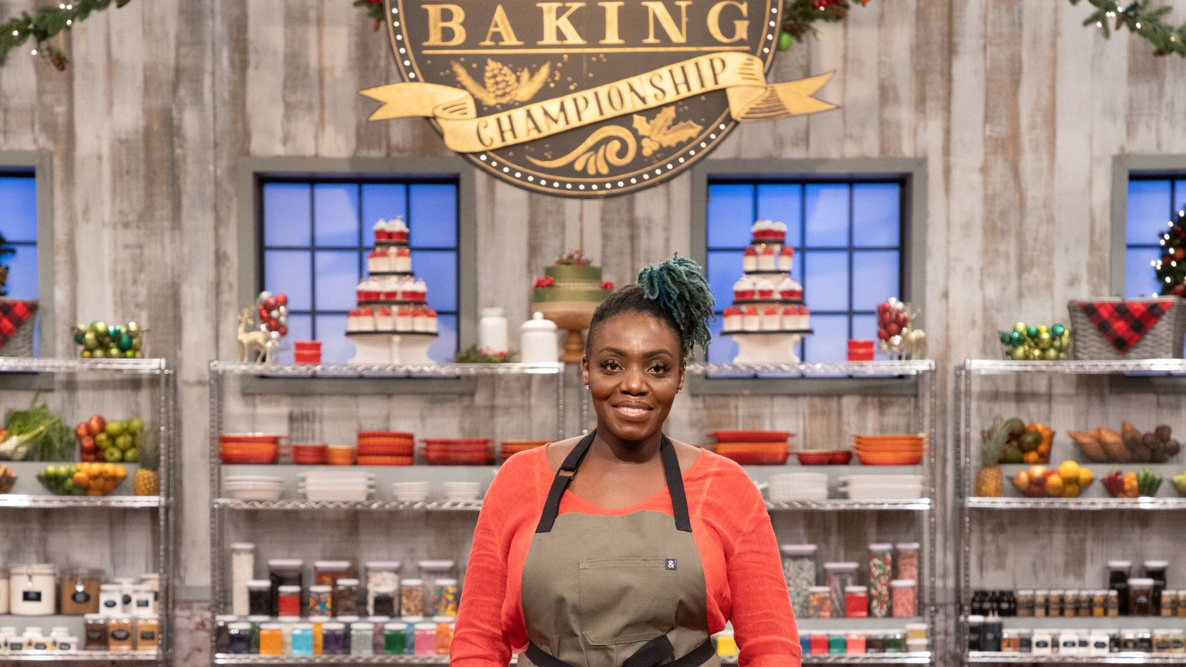 Kess Eshun, of Frisco, competes in the Holiday Baking Championship, Season 7.