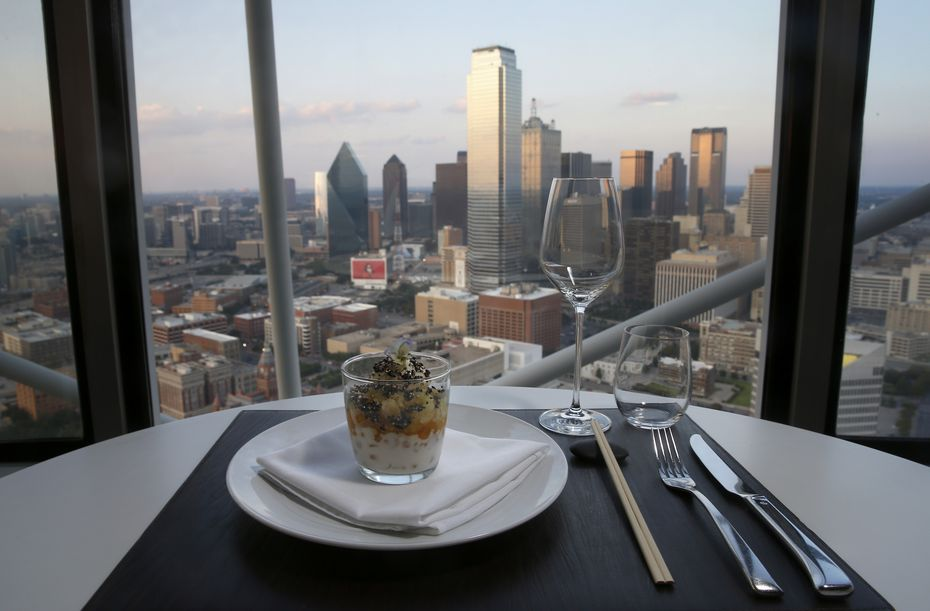 Dinner, with a view: That's what you got at Five Sixty by Wolfgang Puck, the special-occasion restaurant at the top of Reunion Tower in downtown Dallas.