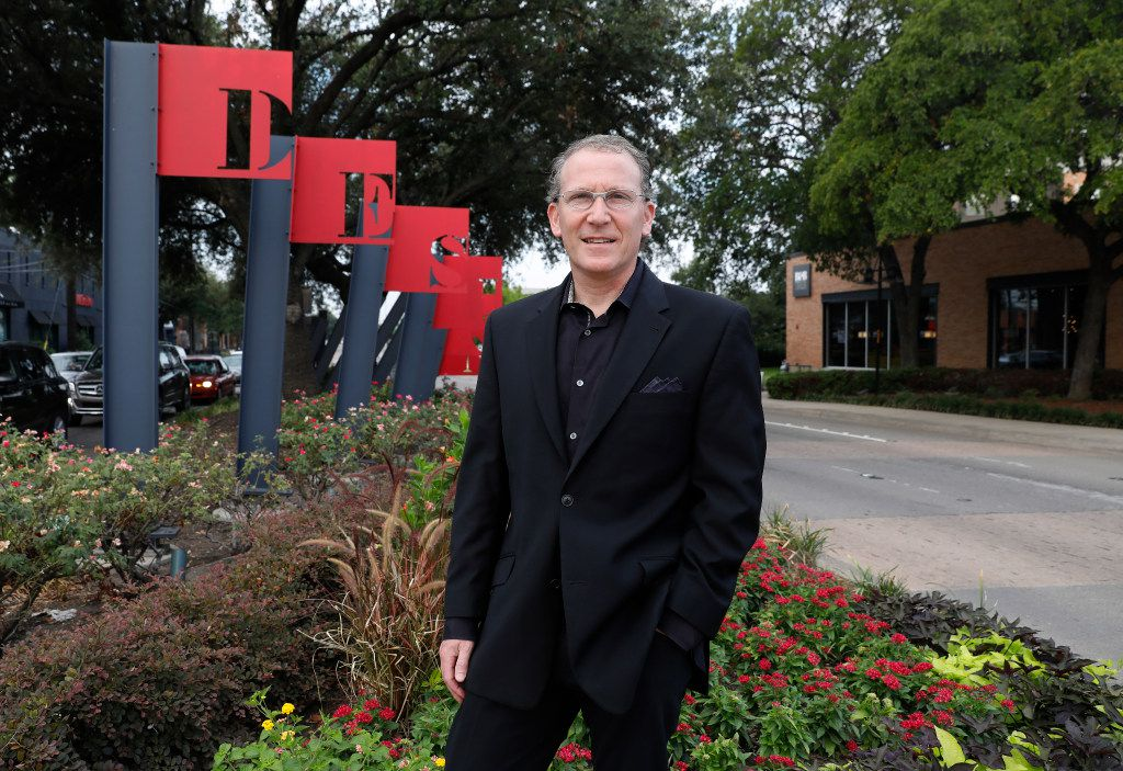 Michael Ablon, principal of PegasusAblon, poses for a portrait in the Design District Park, one of his many developments on Tuesday, August 1, 2017 in Dallas. (David Woo/The Dallas Morning News)